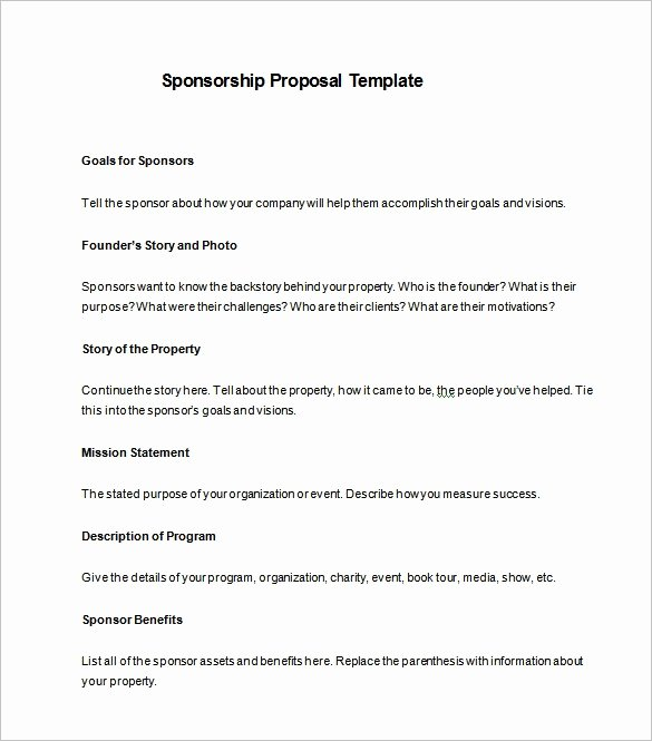 Free Sponsorship Proposal Template Lovely How to Write A Sponsorship Proposal Template