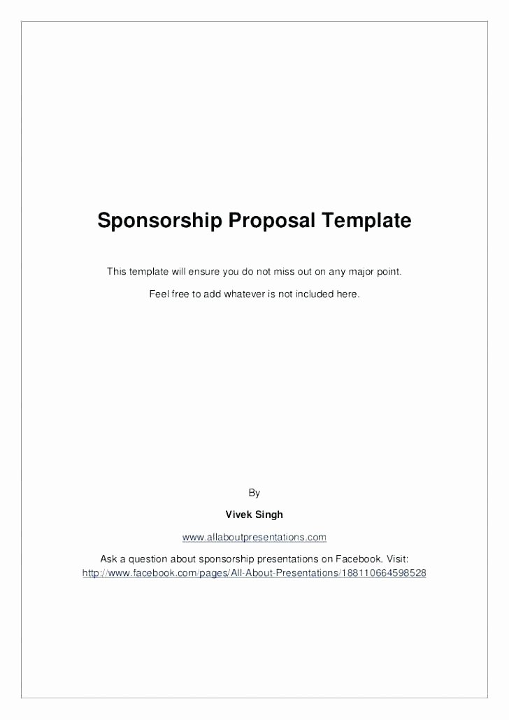 Free Sponsorship Proposal Template Luxury Sponsorship Proposal Template Download event Sample E