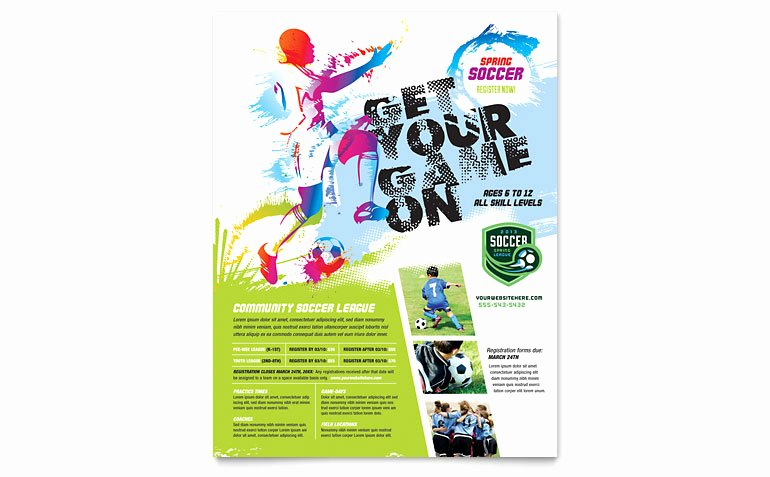 Free Sports Flyer Template Beautiful Youth soccer Flyer Template Word & Publisher