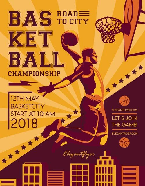 Free Sports Flyer Template Lovely Basketball Match Free Sport Flyer Template Download Free
