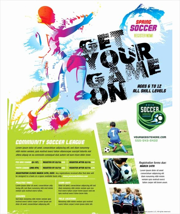 Free Sports Flyer Template Lovely Free soccer Flyer Template Sports Psd and Football Tryouts
