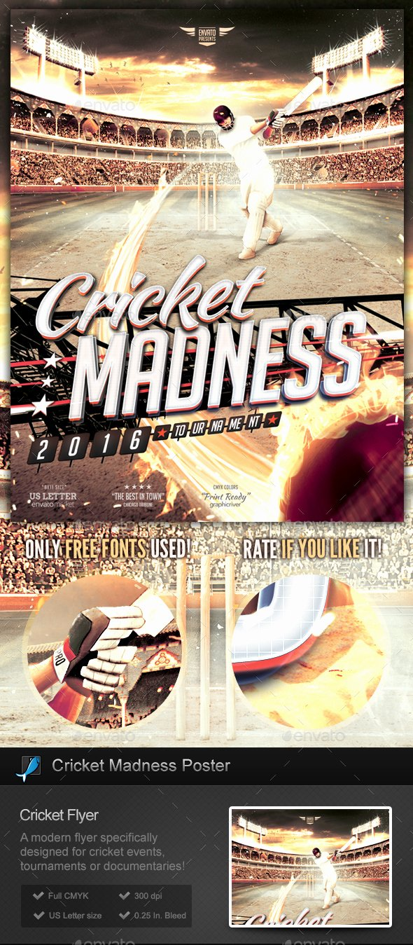 Free Sports Flyer Template Luxury Cricket Madness Flyer Template by Stormdesigns