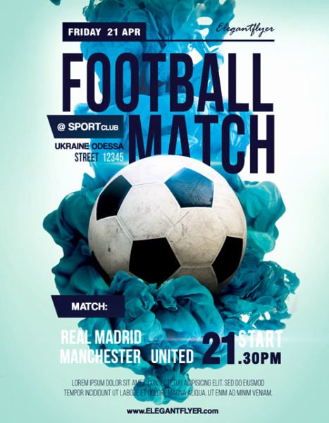 Free Sports Flyer Template New soccer Match Free Sport Flyer Template Download Flyer
