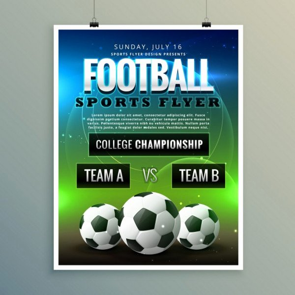 Free Sports Flyer Template Unique 9 Sports event Flyers Free Psd Vector Eps Ai format