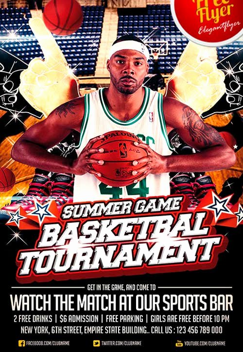 Free Sports Flyer Template Unique Download Free Basketball Sport Psd Flyer Template
