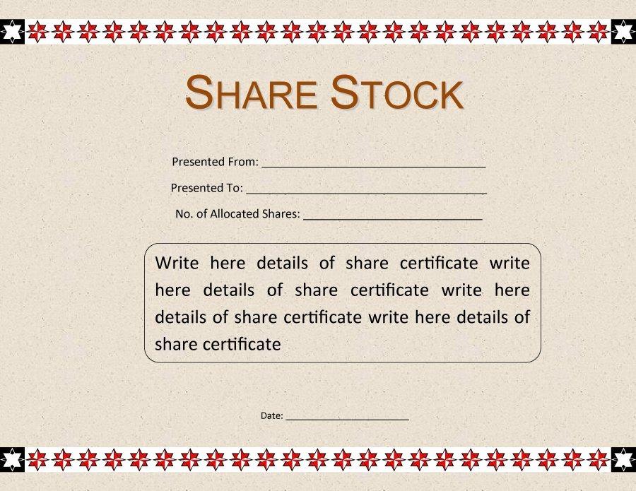 Free Stock Certificate Template Elegant 41 Free Stock Certificate Templates Word Pdf Free