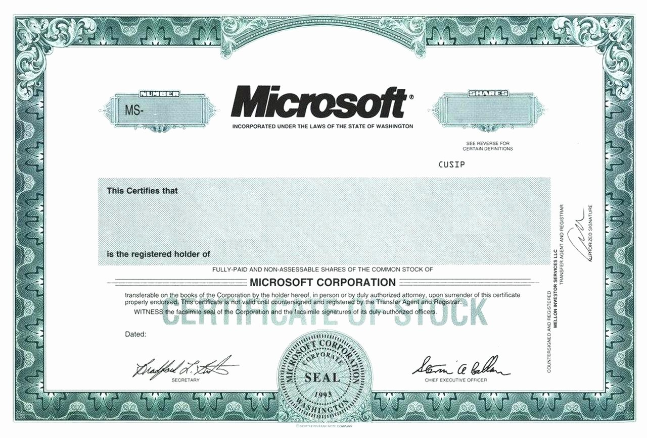 Free Stock Certificate Template Luxury Blank Free Mon Stock Certificate Template Microsoft
