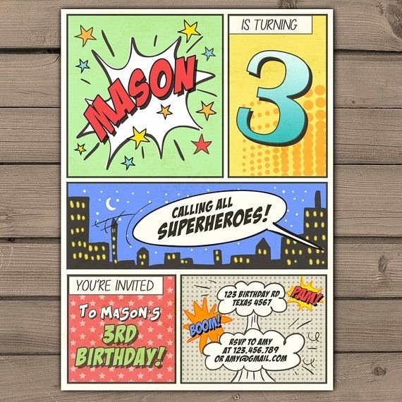 Free Superhero Invitation Template Awesome Ic Book Invitation Template Cobypic