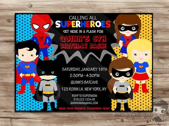 Free Superhero Invitation Template Best Of Superhero Invite Superhero Invite Boys Girls Superhero