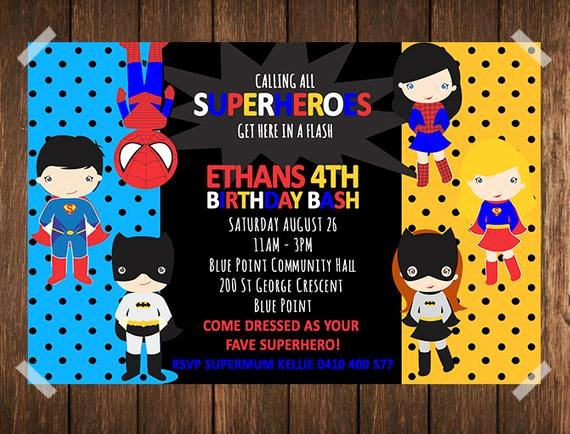 Free Superhero Invitation Template Fresh Superhero Birthday Invitation Superhero Invitation