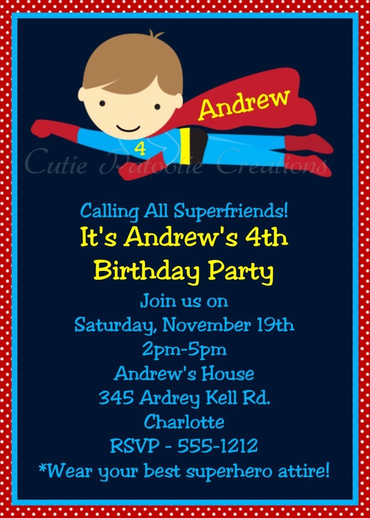 Free Superhero Invitation Template New Superhero Birthday Invitations Printable Templates