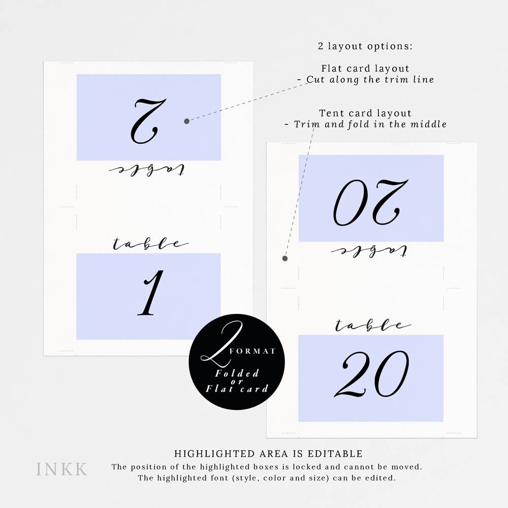 Free Table Tent Template Unique Free Printable Table Tent Numbers