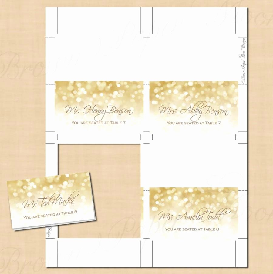 Free Tent Card Template Elegant Avery Place Card Templates – Free Download