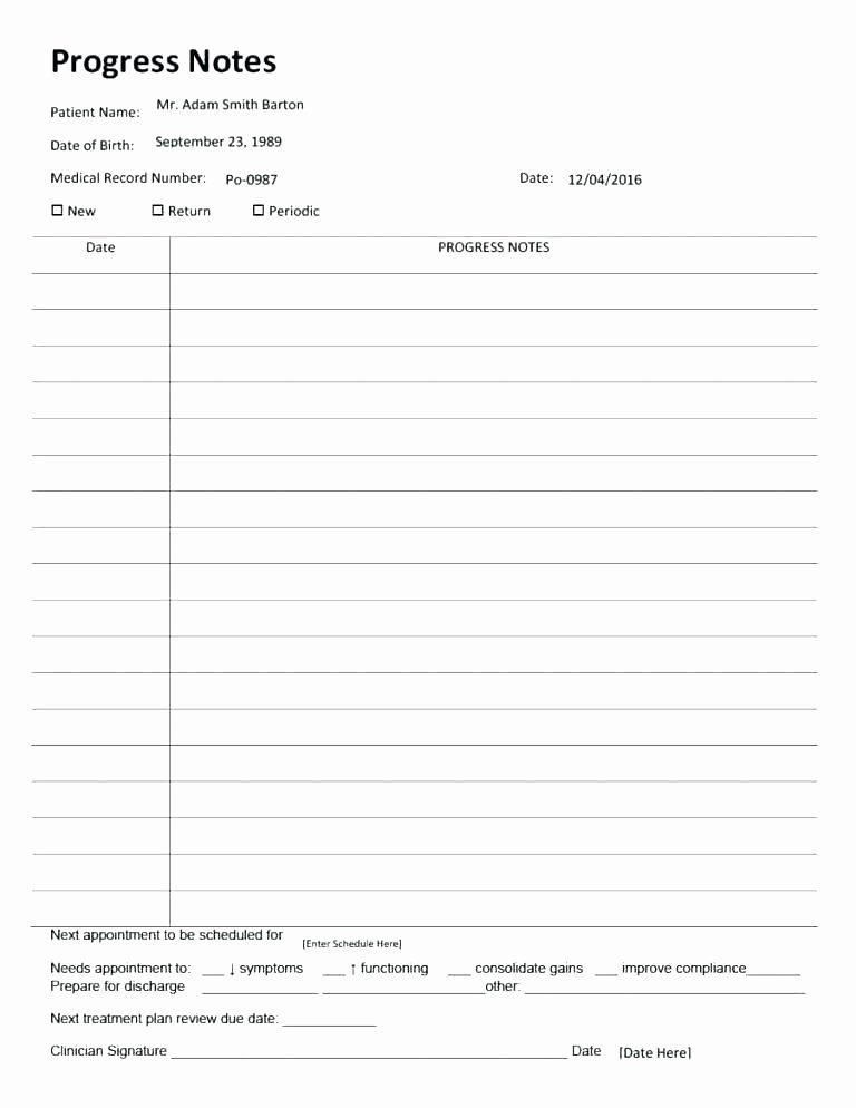 Free therapy Notes Template Awesome Counseling Progress Notes Template Lavanc