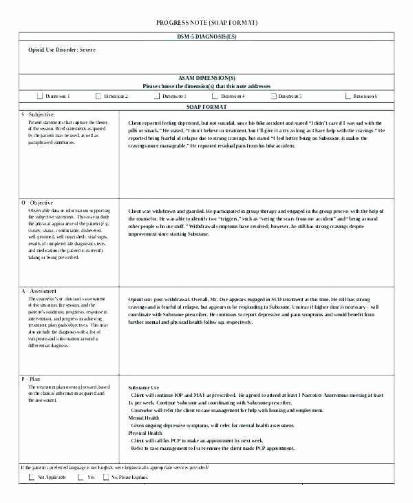 Free therapy Notes Template New New therapy Progress Note Template Examples Best Popular