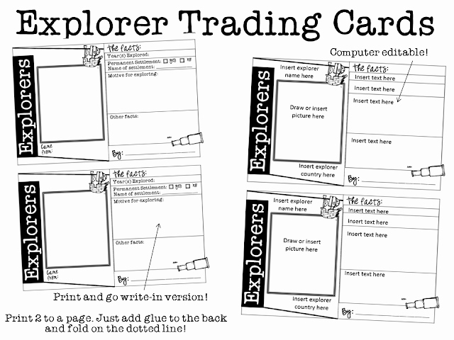Free Trading Card Template Elegant Ginger Snaps Explorers Trading Cards