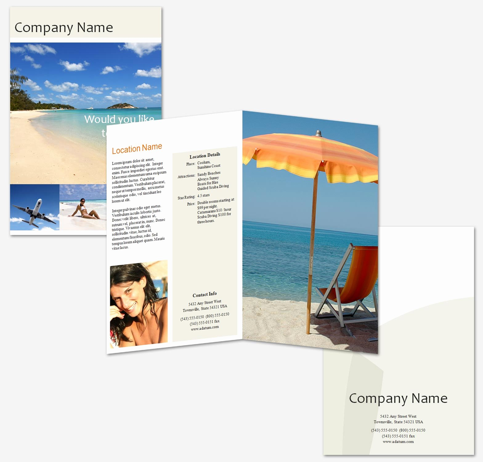 Free Travel Brochure Template Elegant Space Travel Brochures