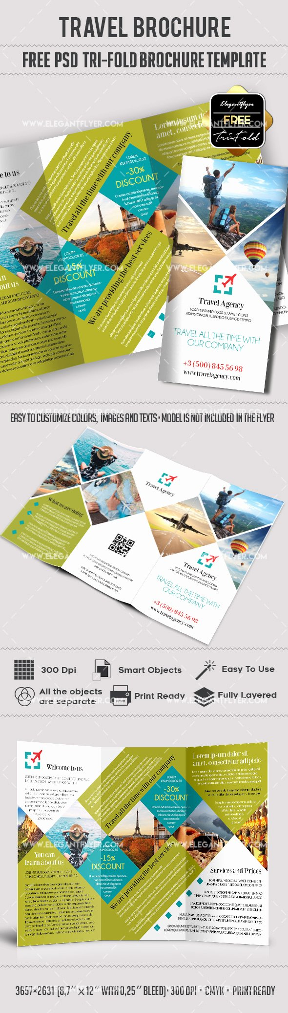 Free Travel Brochure Template Elegant Travel – Free Psd Tri Fold Psd Brochure Template – by