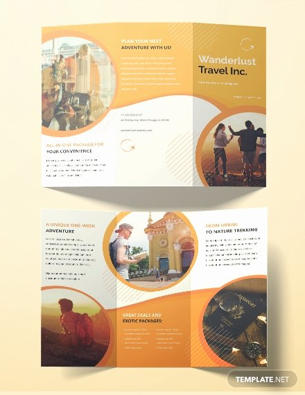 Free Travel Brochure Template Fresh Free Brochure Templates Download Ready Made