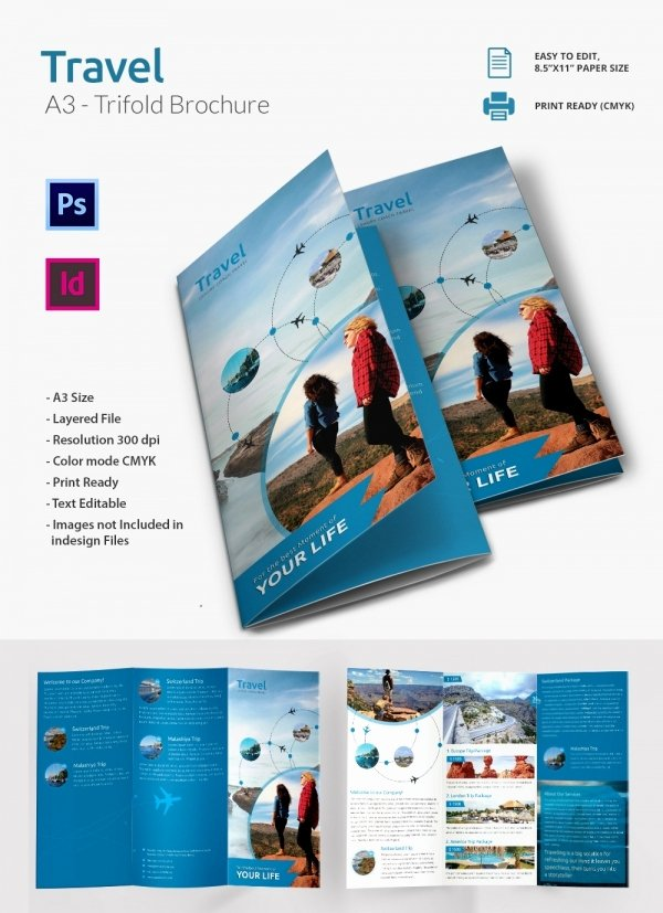 Free Travel Brochure Template Inspirational 47 Travel Brochure Templates Free Sample Example