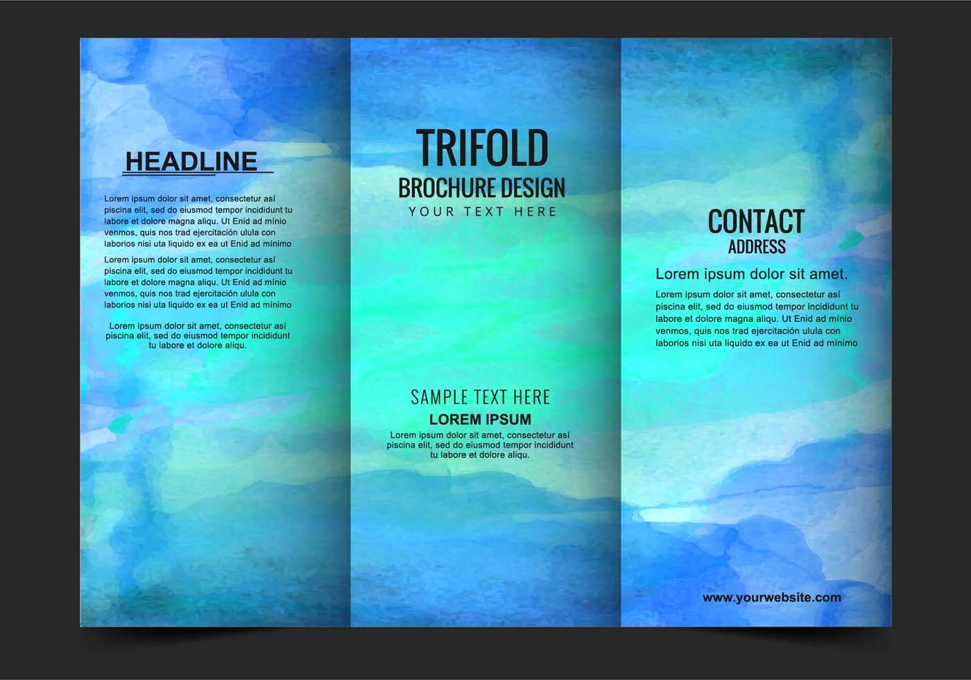 Free Tri Fold Template Awesome Vector Modern Trifold Brochure Template Download Free