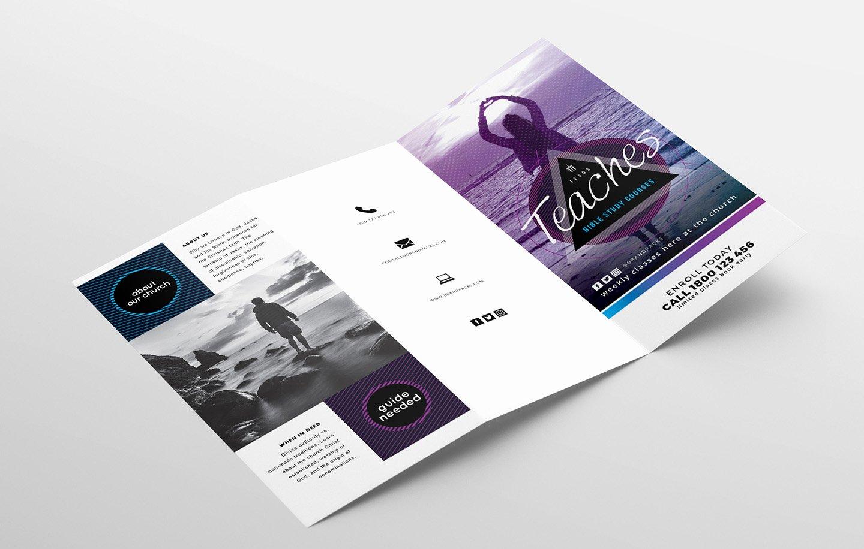 Free Tri Fold Template Lovely Free Church Templates Shop Psd & Illustrator Ai