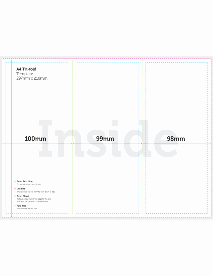 Free Tri Fold Template New A4 Tri Fold Brochure Template Csoforumfo