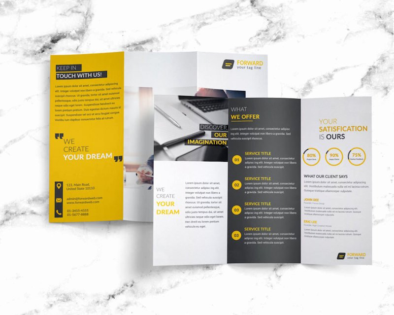 Free Trifold Brochure Template Awesome 25 Tri Fold Brochure Templates Psd Ai & Indd Free