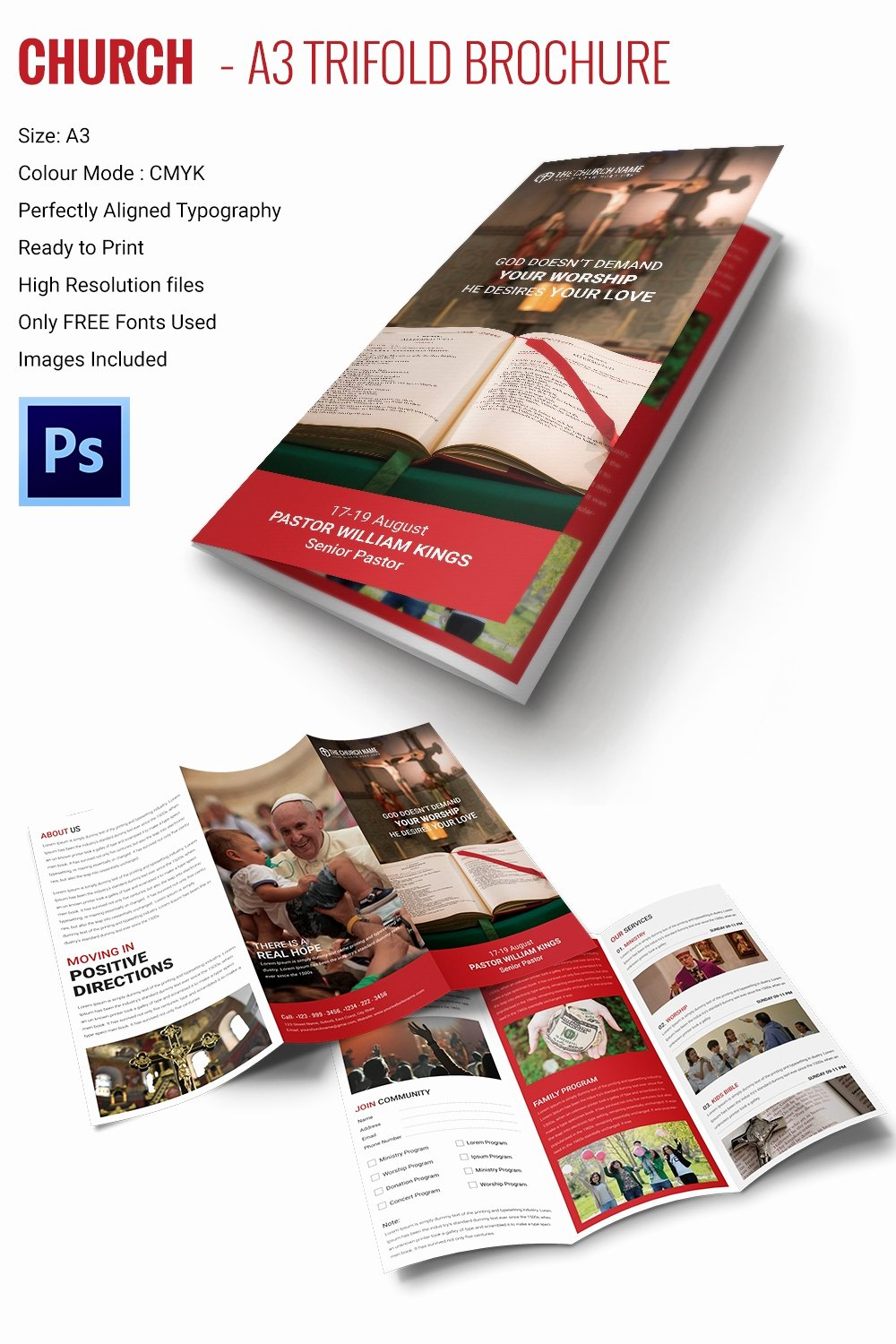 Free Trifold Brochure Template Beautiful 16 Popular Church Brochure Templates Ai Psd Docs