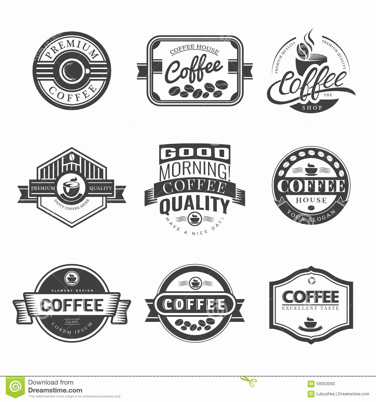 Free Vintage Logo Template Awesome Coffee Vintage Logo Stock Vector Illustration Of