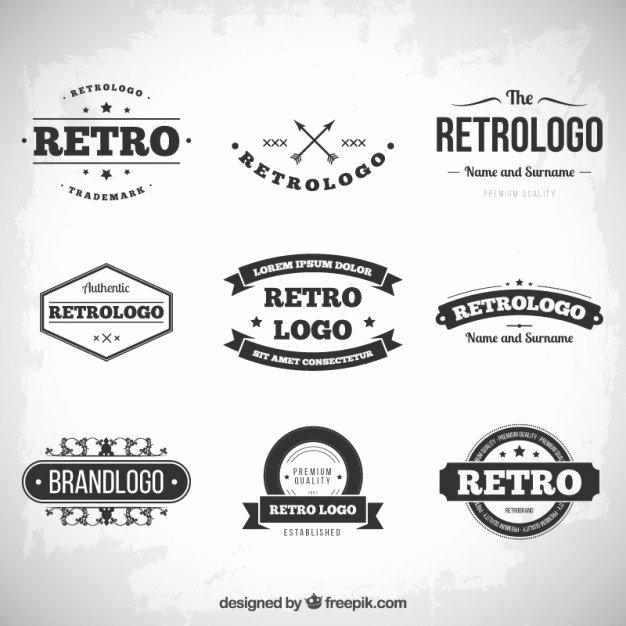 Free Vintage Logo Template Beautiful Collezione Loghi Retro