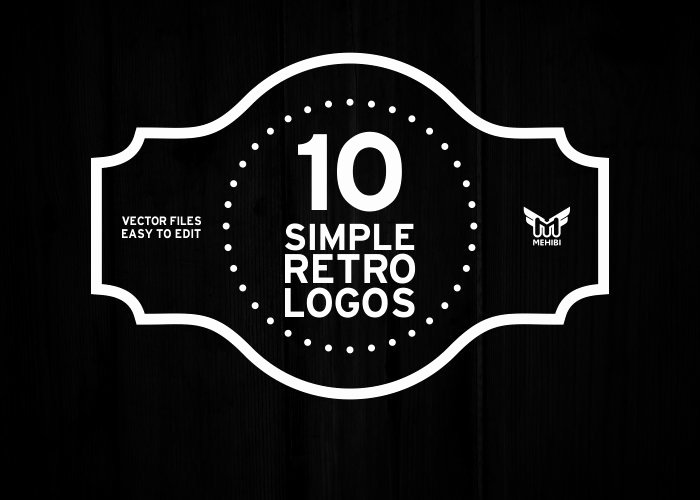 Free Vintage Logo Template Best Of Simple Retro Logo Graphics Creative Market