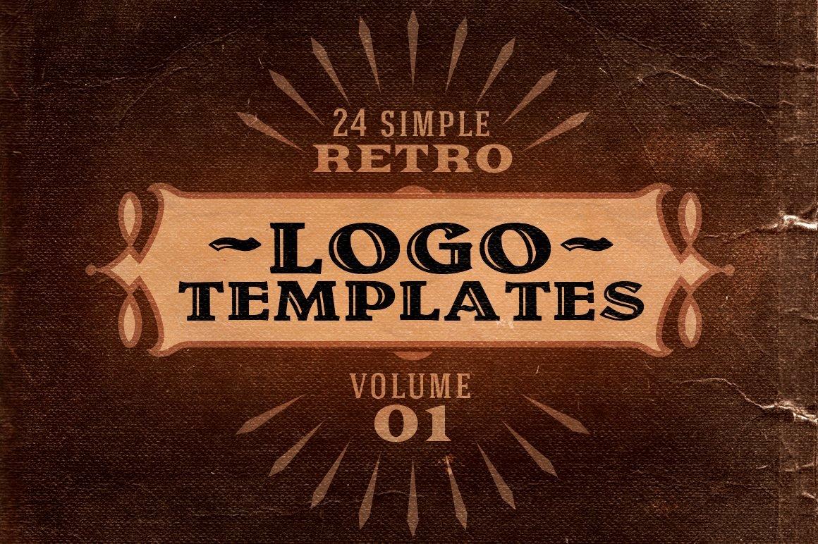 Free Vintage Logo Template Elegant Simple Retro Logo Templates V 1 Logo Templates