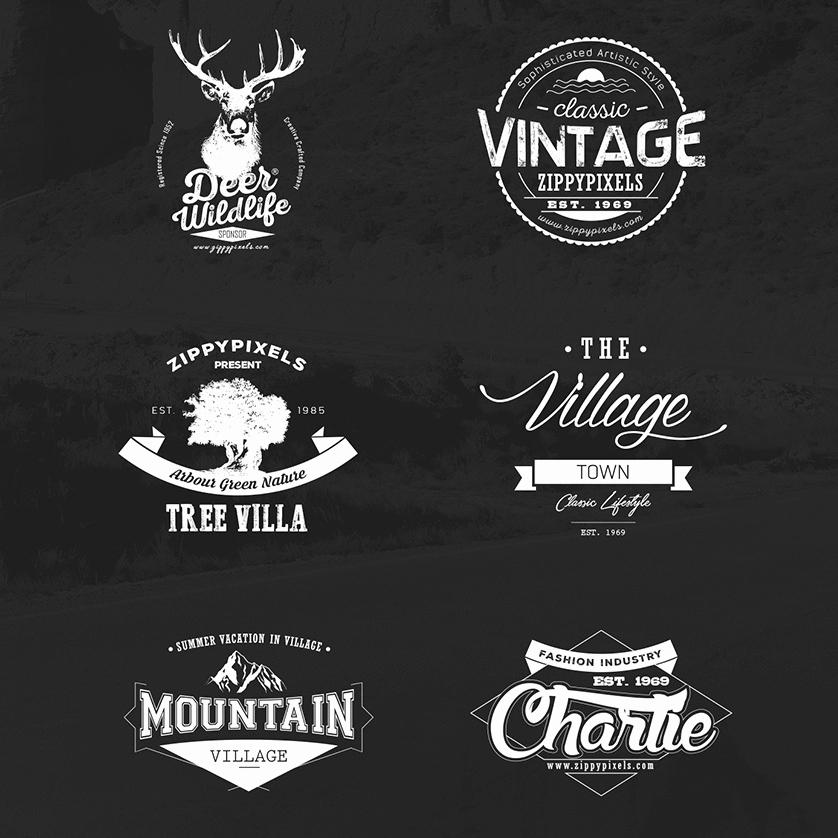 Free Vintage Logo Template Fresh Vintage Vector Logo Design Kit with 15 Free Logo Templates