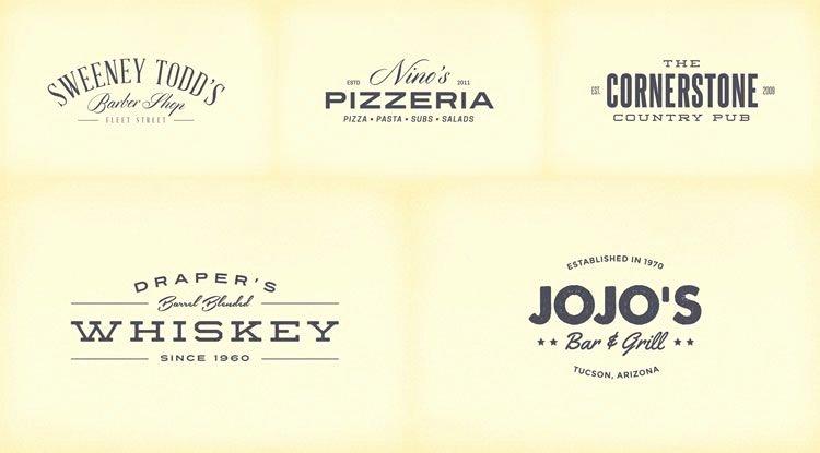 Free Vintage Logo Template Luxury 無料で使用できる!ヴィンテージ・スタイルでデザインされたロゴテンプレート14選!|seleqt【セレキュト】