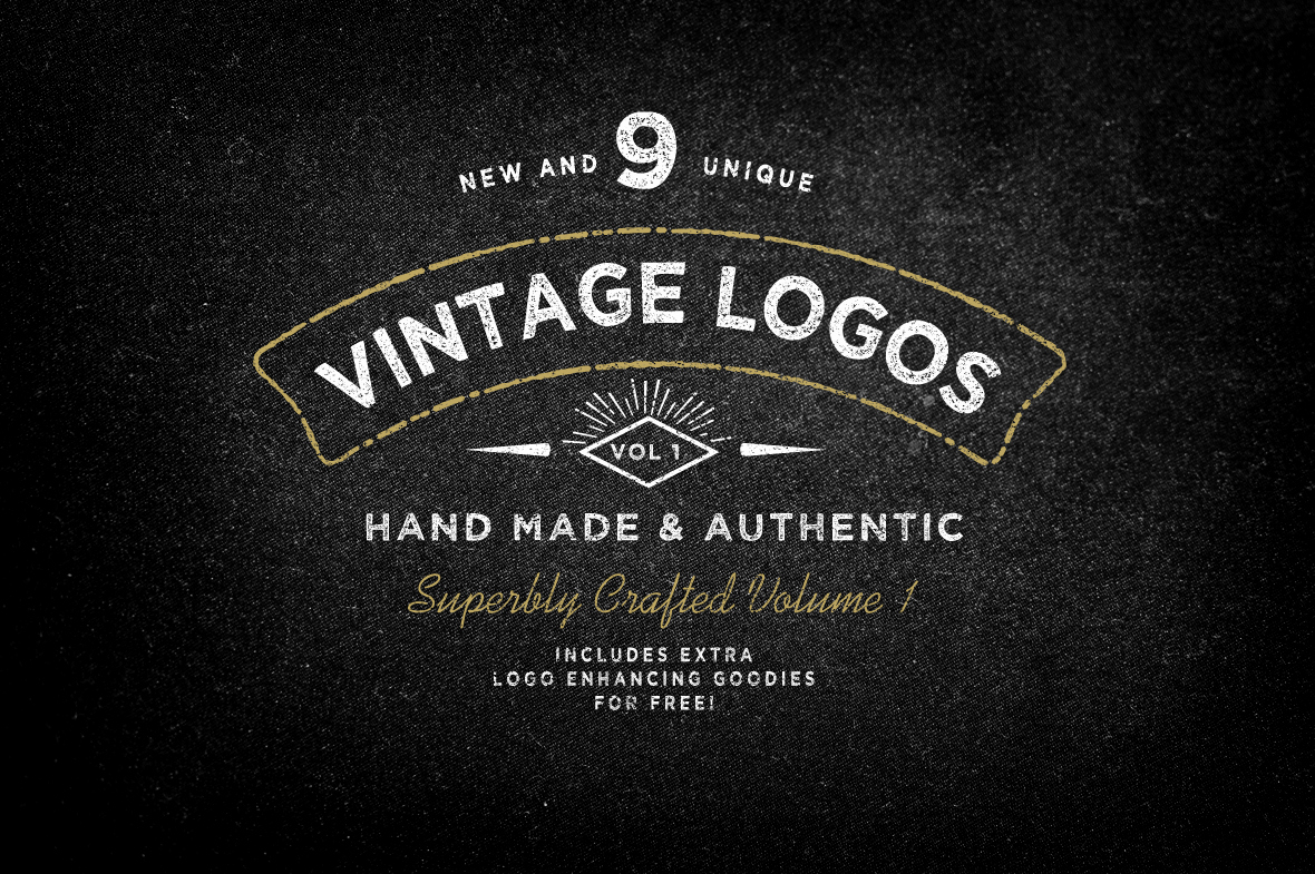 Free Vintage Logo Template Luxury Large Hipster Typography Design Logo Graphic Design Links