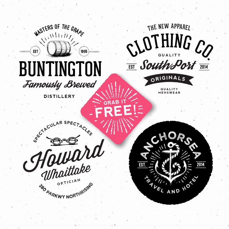 Free Vintage Logo Template New 9 Retro Badge Psd Template Shop Psd Vintage