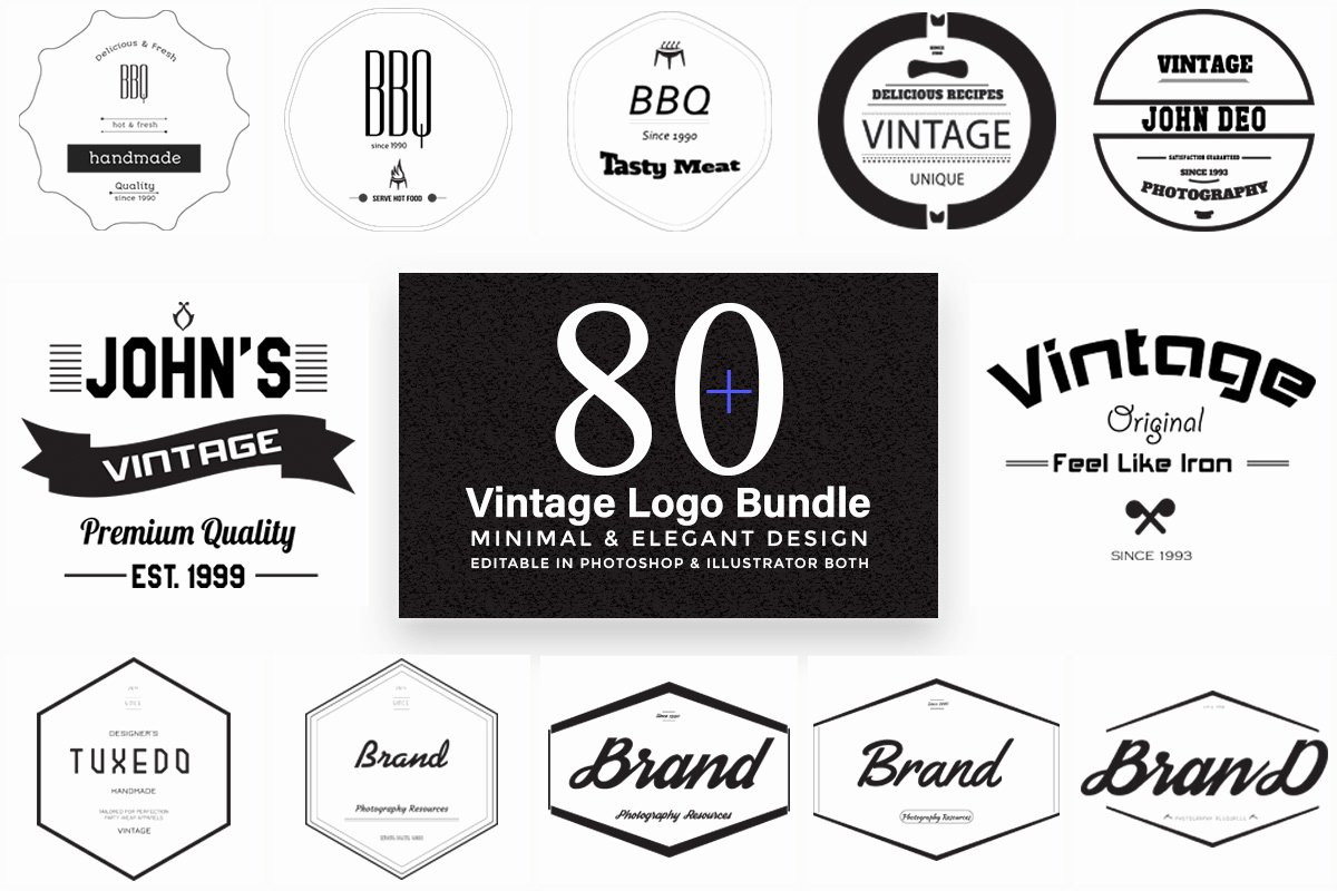 Free Vintage Logo Template Unique 80 Free Elegant Vintage Logo Templates Creativetacos
