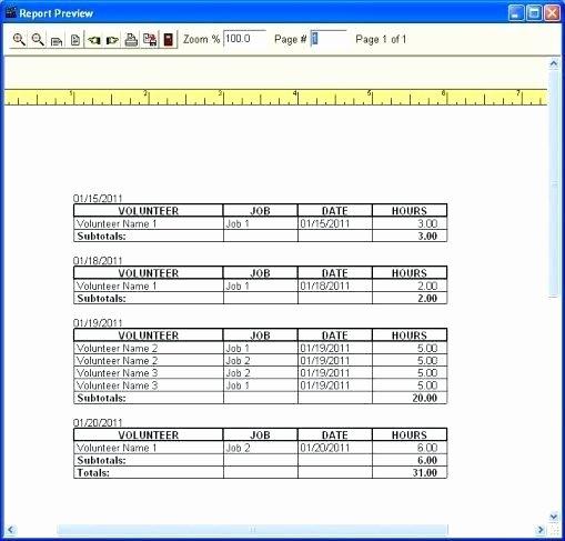 free volunteer database template