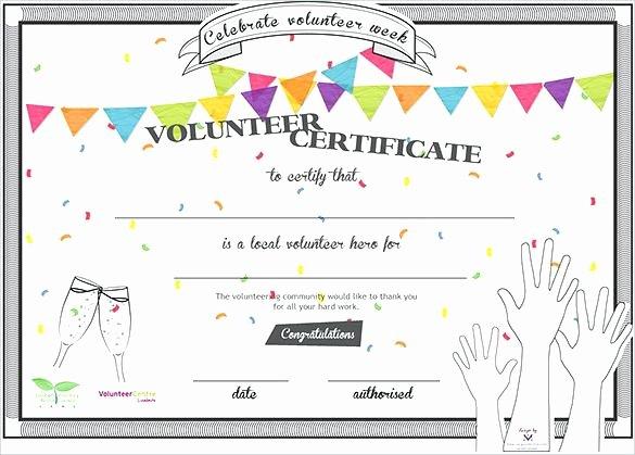 Free Volunteer Database Template Luxury Volunteer Appreciation Certificates Free Templates Condo