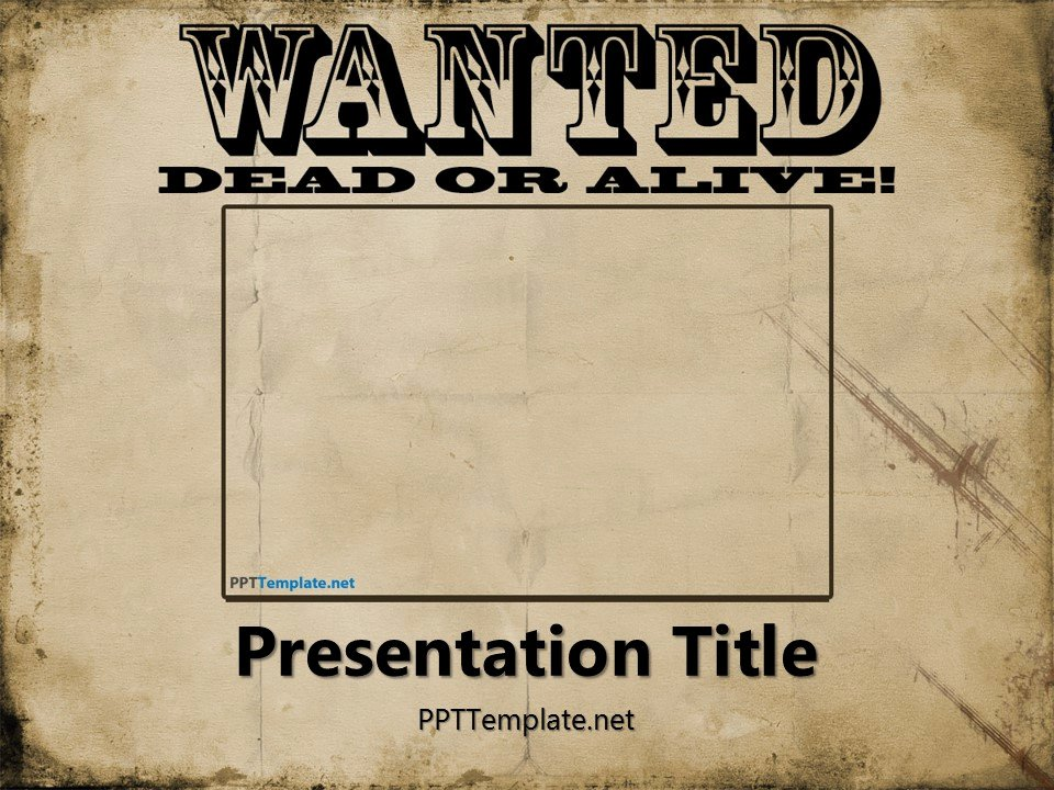 Free Wanted Poster Template Beautiful Free Wanted Poster Template for Powerpoint