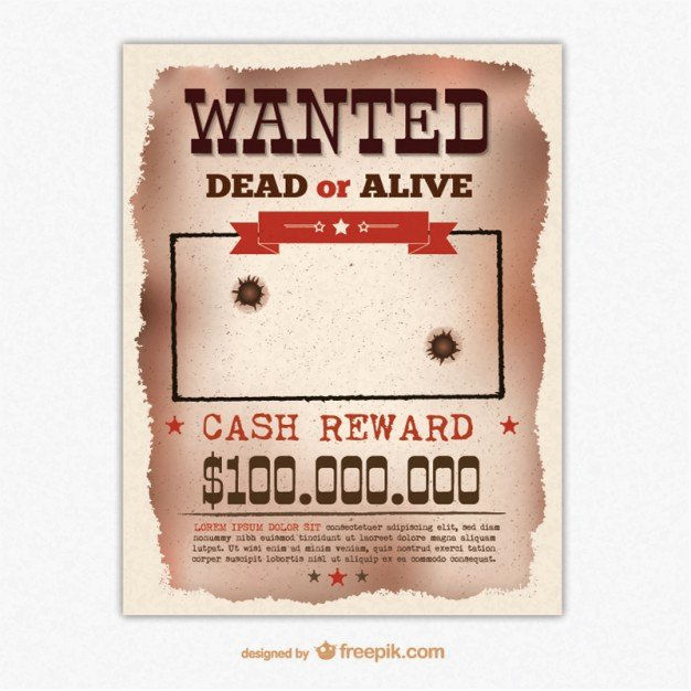 Free Wanted Poster Template Elegant Retro Wanted Poster Template Vector
