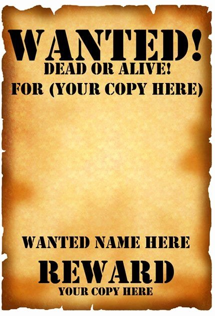 Free Wanted Poster Template Fresh Wanted Poster Template Fbi and Old West Free