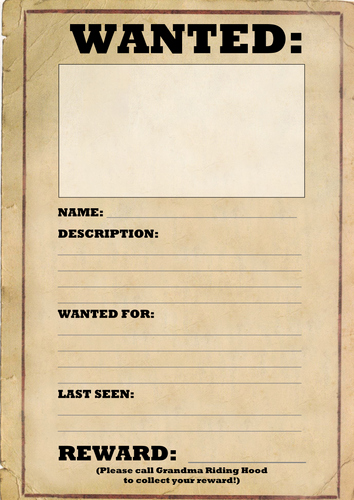 Free Wanted Poster Template New Wanted Poster Template by Joeroberts89 Teaching