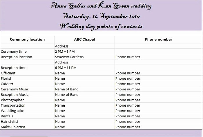 Free Wedding Itinerary Template Awesome 37 Free Beautiful Wedding Guest List & Itinerary Templates