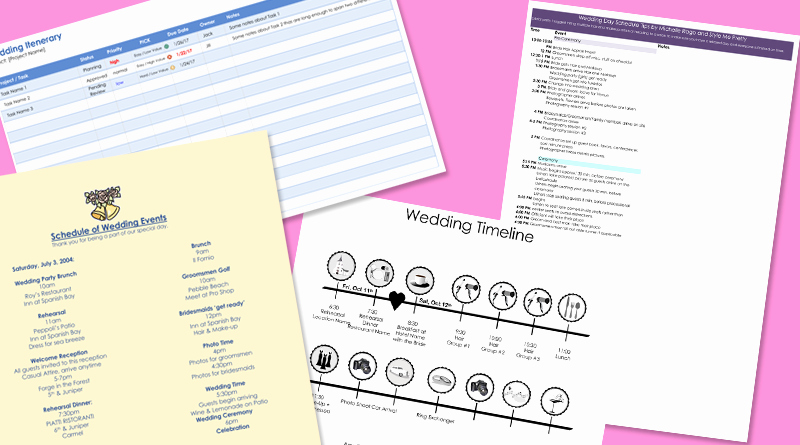 Free Wedding Itinerary Template Lovely 8 Free Wedding Itinerary Templates and Schedule Templates