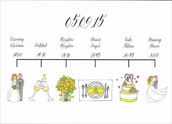 Free Wedding Itinerary Template Luxury 26 Wedding Itinerary Templates – Free Sample Example