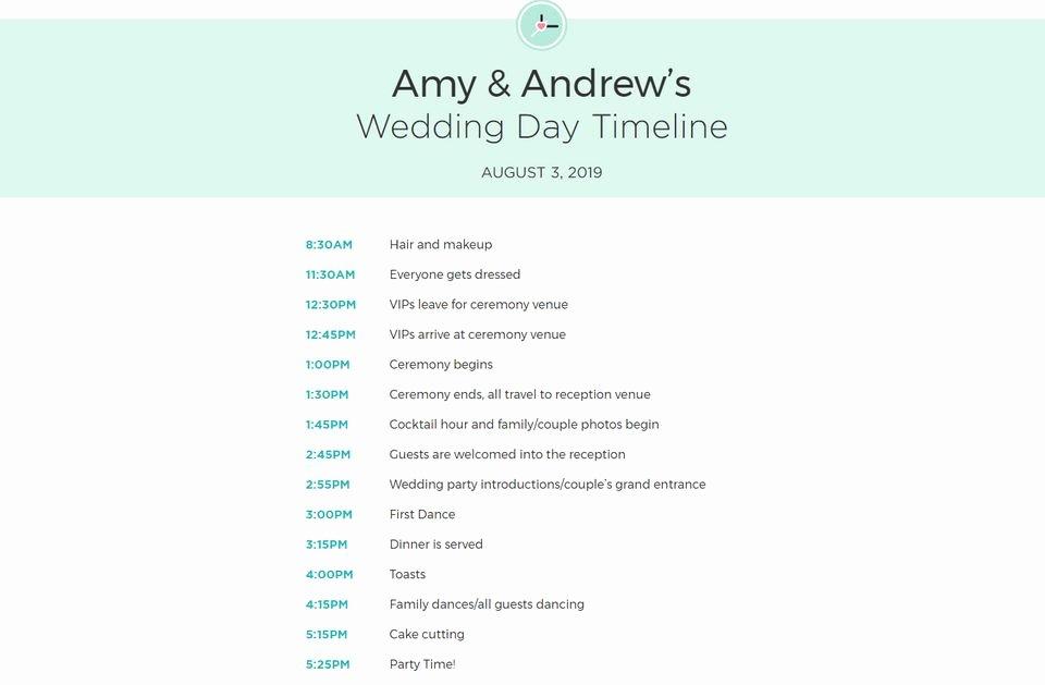 Free Wedding Itinerary Template Luxury Free Wedding Itinerary Templates and Timelines