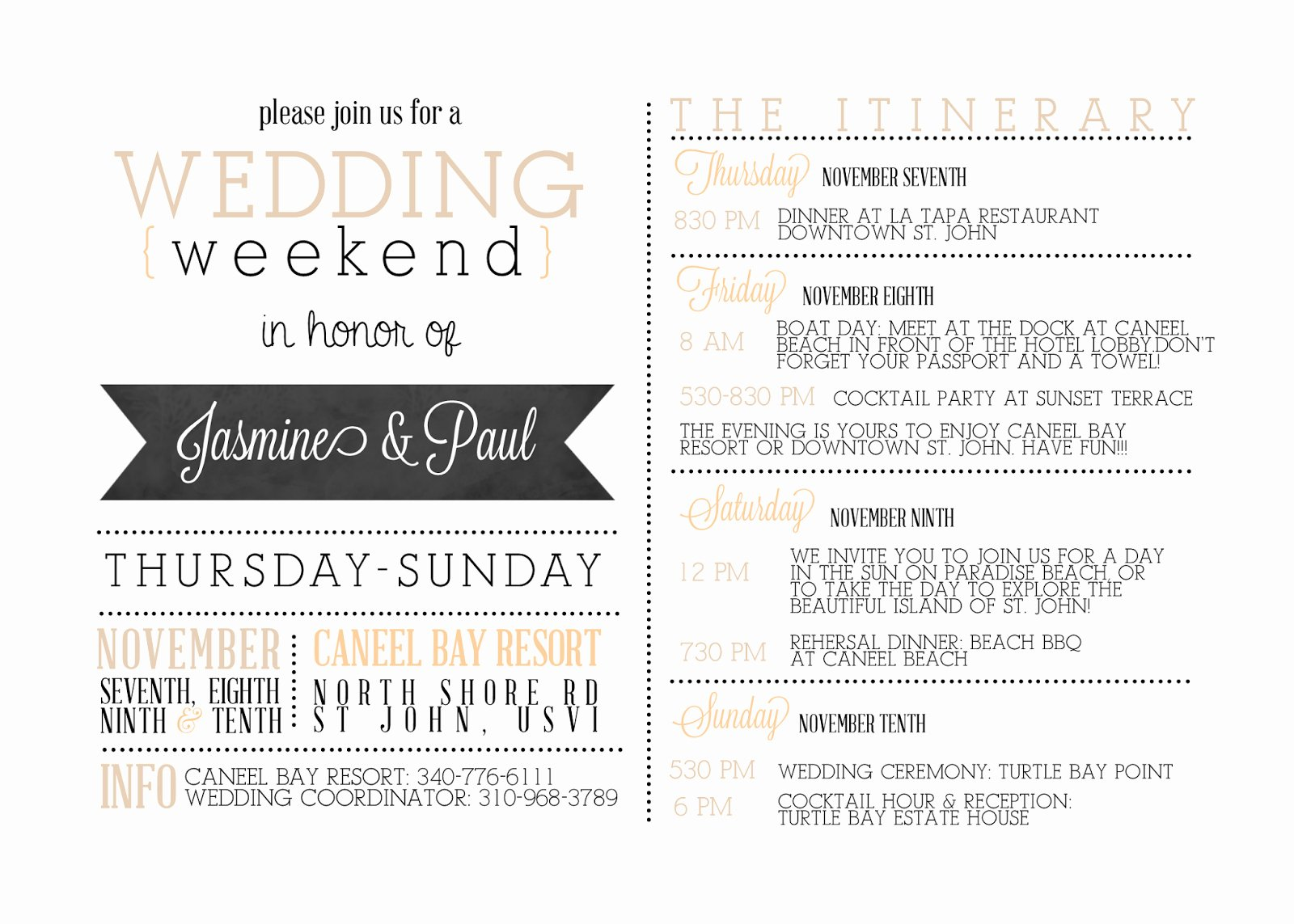 Free Wedding Itinerary Template Luxury Wedding Wel E Bag Letter Template Collection