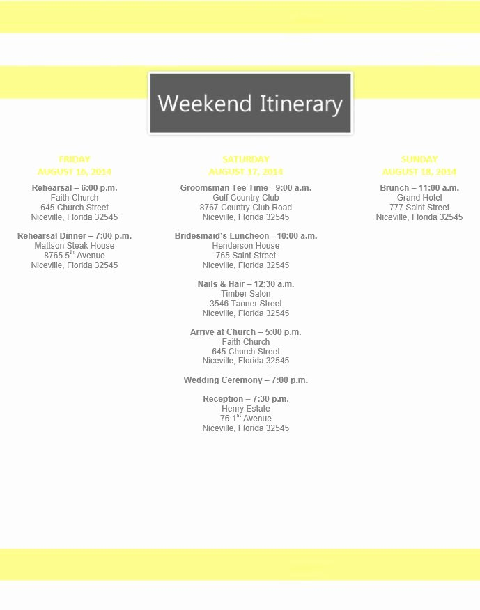 Free Wedding Itinerary Template Unique Best 25 Wedding Itinerary Template Ideas On Pinterest